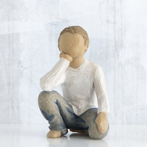 Inquisitive Child Figurine