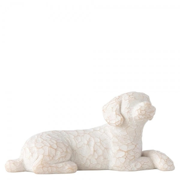Love My Dog (Light, Small, Lying) Figurine