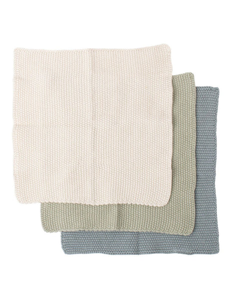 Eco Knitted Dishcloth s/3 Sage