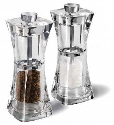 Crystal Salt & Pepper Mill Set