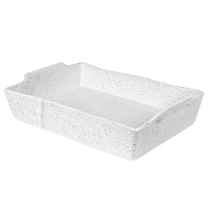 Rectangular Baking Dish Feast - White Granite