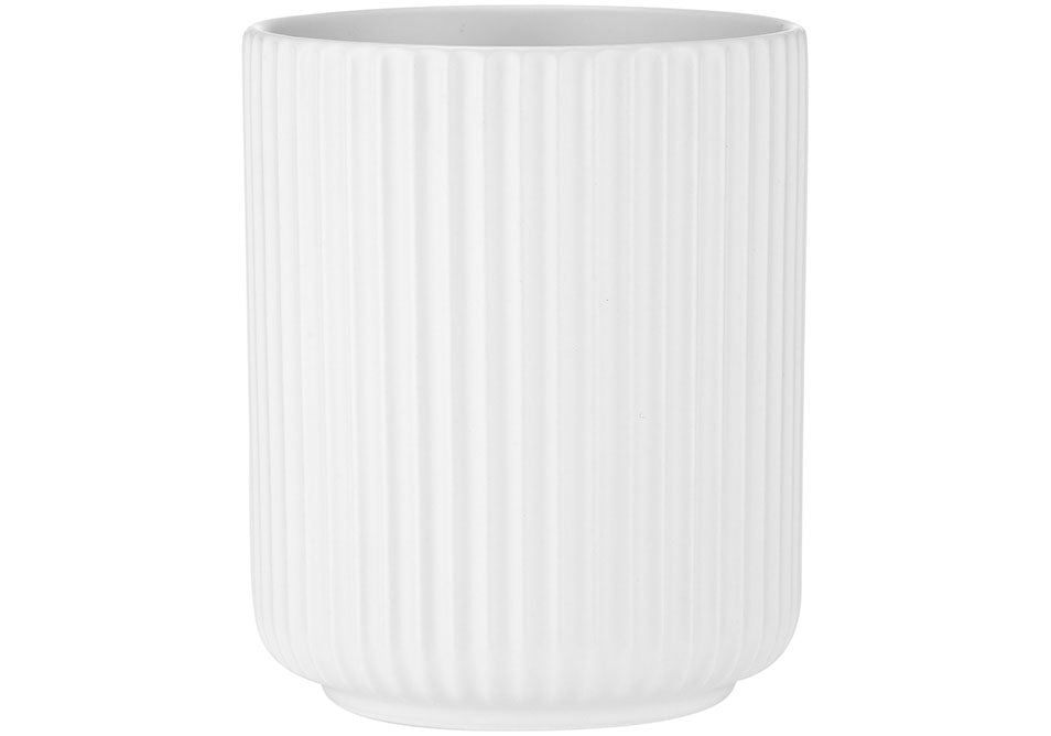 Linear Ribbed Tumbler - White
