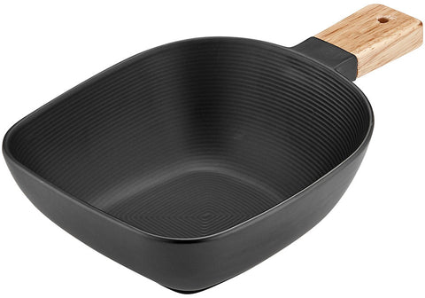 Linear Textured Medium Bowl - Black