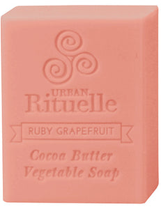 Organic Cocoa Butter Soap - Ruby Grapefruit