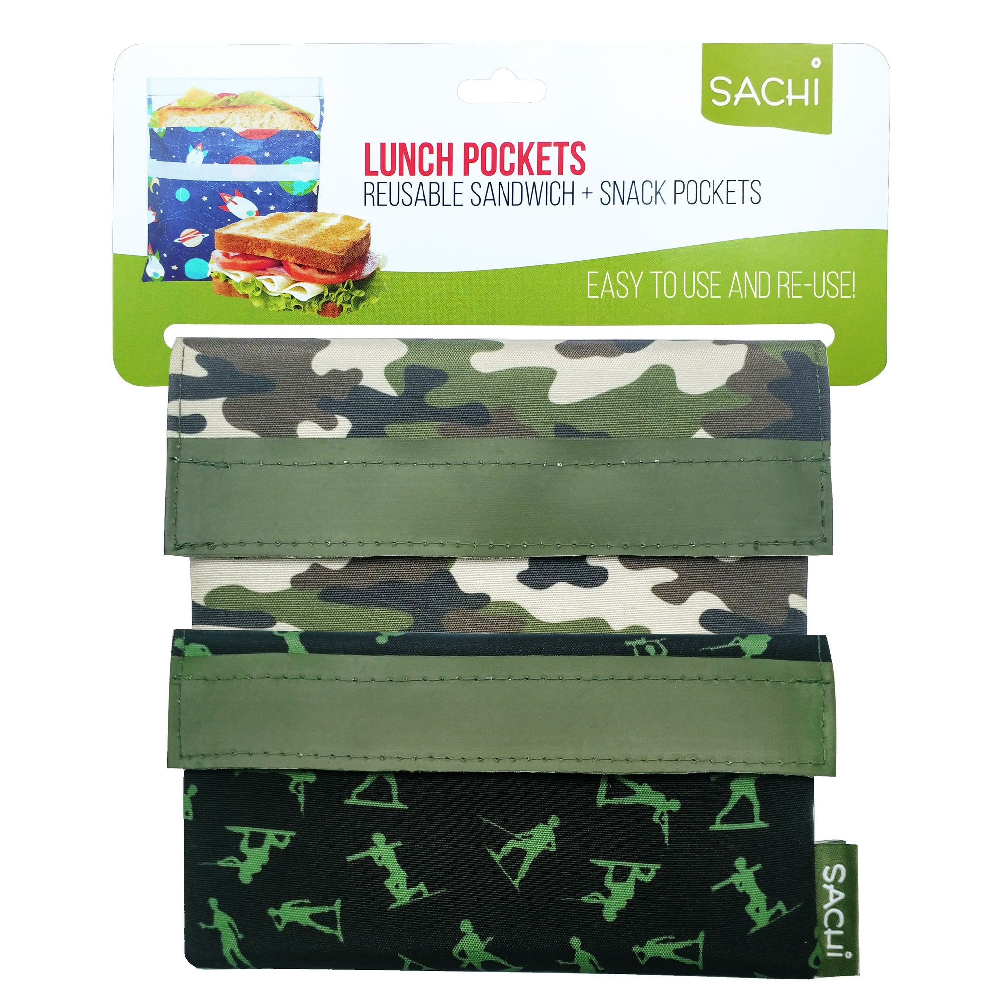 Lunch Pockets - Camo Green