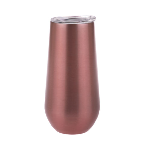 S/S Double Wall Insulated Champagne Tumbler -  Rose