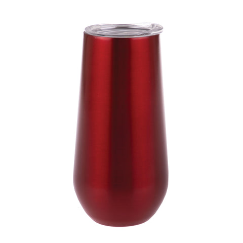 S/S Double Wall Insulated Champagne Tumbler - Ruby