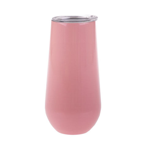 S/S Double Wall Insulated Champagne Tumbler -  Soft Pink