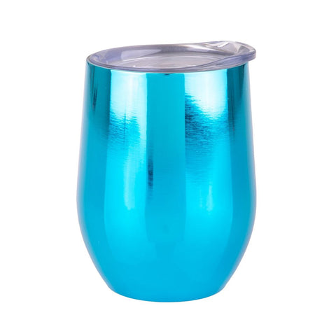 S/S Double Wall Insulated Wine Tumbler - Mirror Sapphire