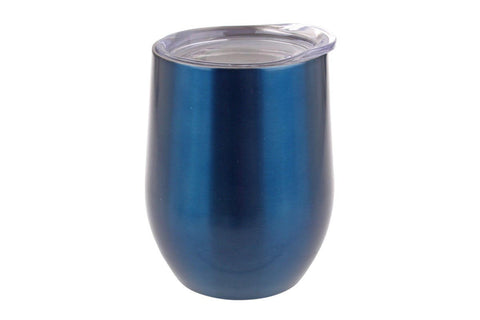 S/S Double Wall Insulated Wine Tumbler - Sapphire
