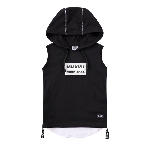 Ashton Hooded Tank - Black