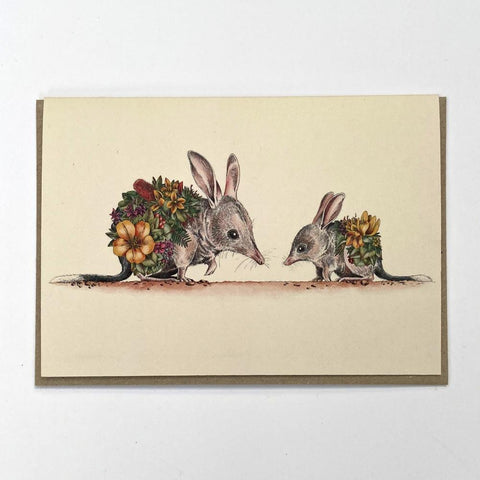 Bilby & Joey Greeting Card