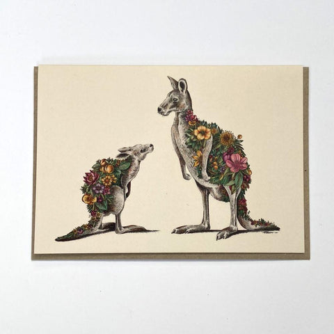 Kangaroo & Joey Greeting Card