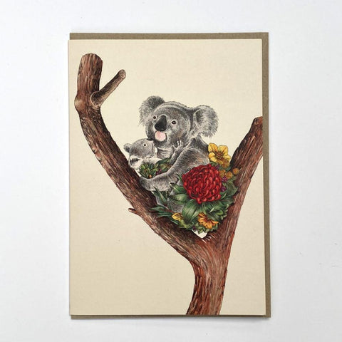 Koala Cuddle Greeting Card