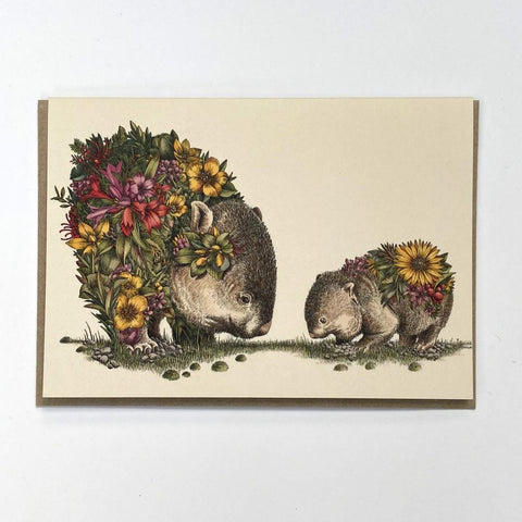 Wombat & Joey Greeting Card