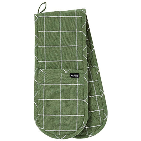 Eco Recycled Check Double Oven Mitt