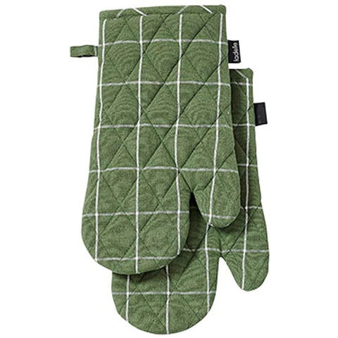 Eco Recycled Check Oven Mitt pk2
