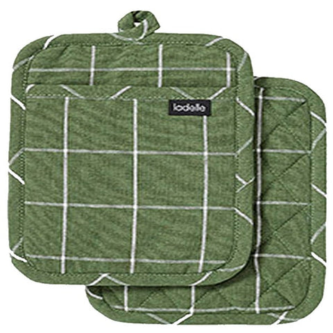 Eco Recycled Check Pot Holder pk2