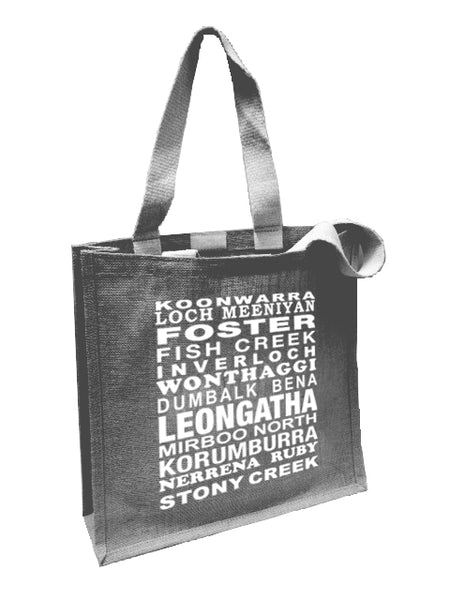Many Towns Hessian Bag