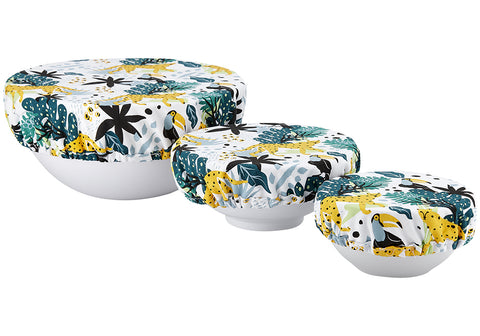 Bowl Cover s/3 Villa Jungle Jumble