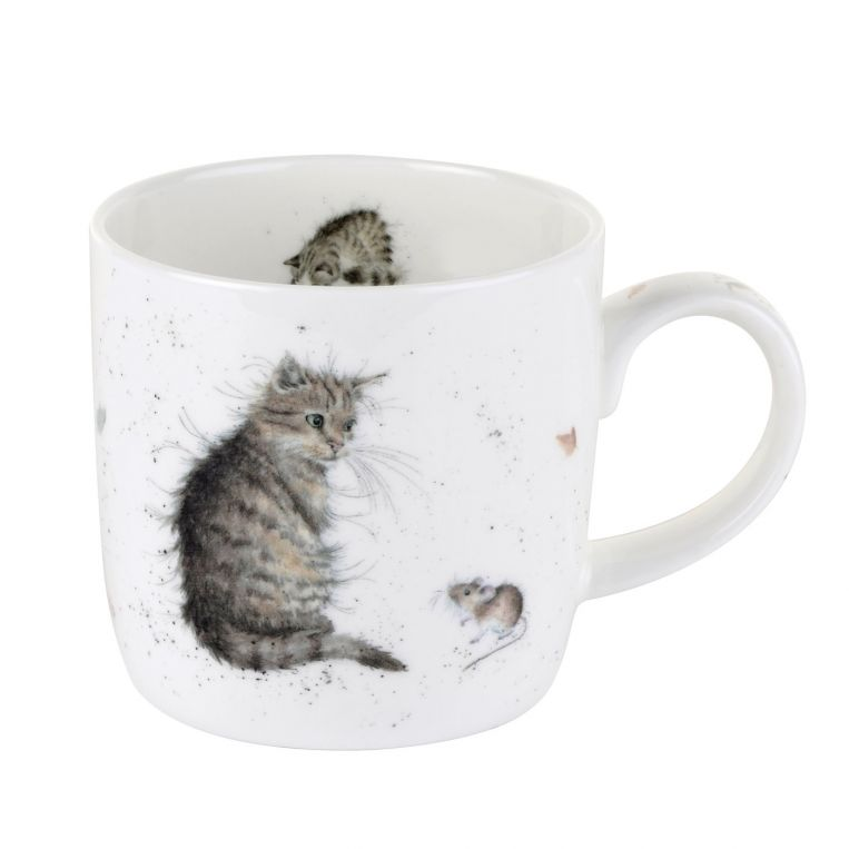 Royal Worcester Wrendale Cat & Mouse Mug