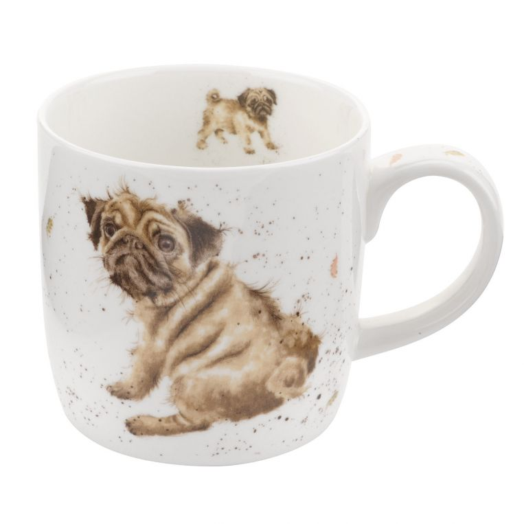 Royal Worcester Wrendale Pug Love Mug