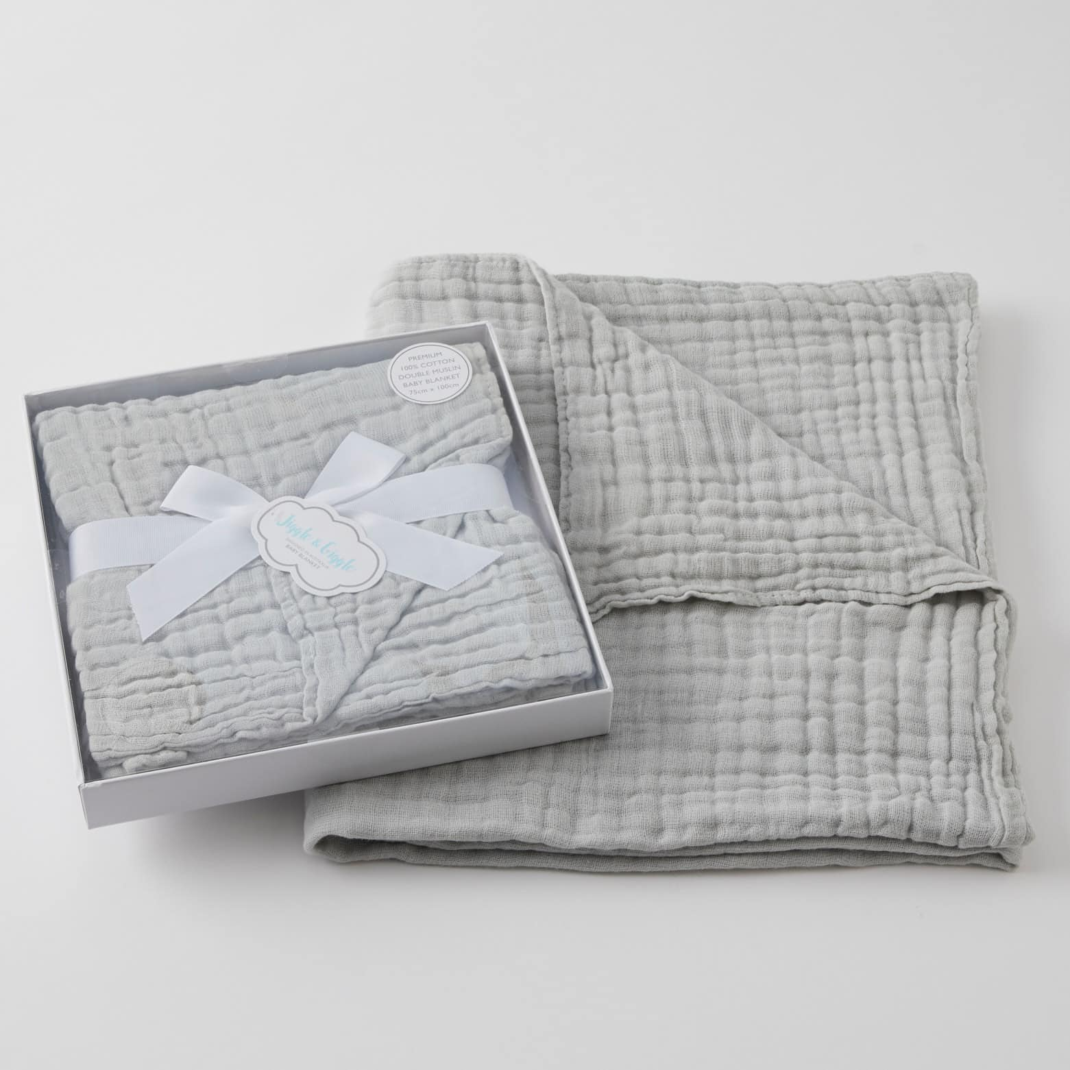 Baby Blanket Double Muslin - Grey