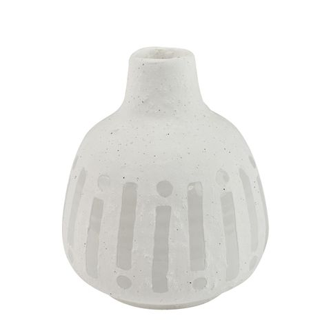 Pure Ceramic White Vase 12x14cm