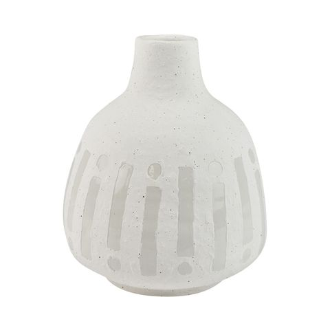 Pure Ceramic White Vase 15x18cm