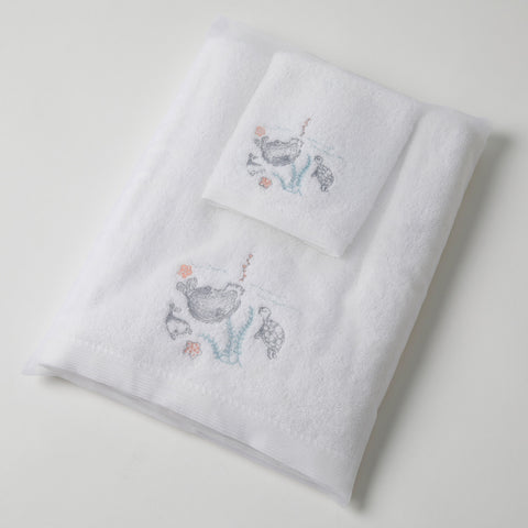 Baby Towel & Washer Set - Sea Life