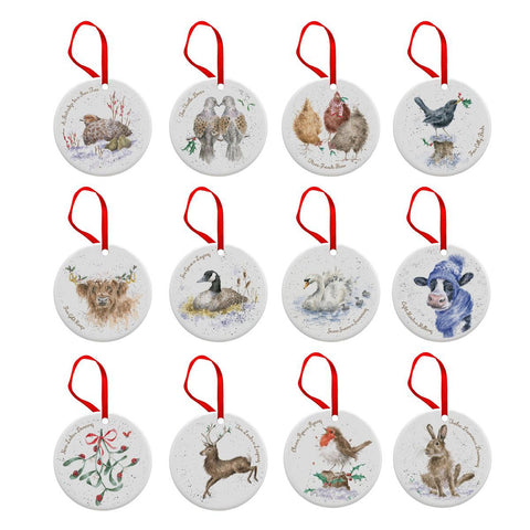 Hanging Ornament Wrendale Twelve Days of Christmas s/12