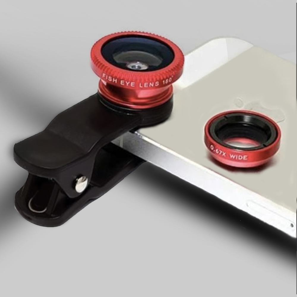 SHARP-PIC™ 3-in-1 Universal Clip on Smartphone Camera Lens - 6 Colors
