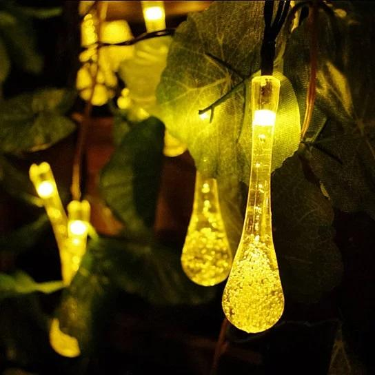 LUM-X™ Dew Droplet LED Solar Lights for Garden