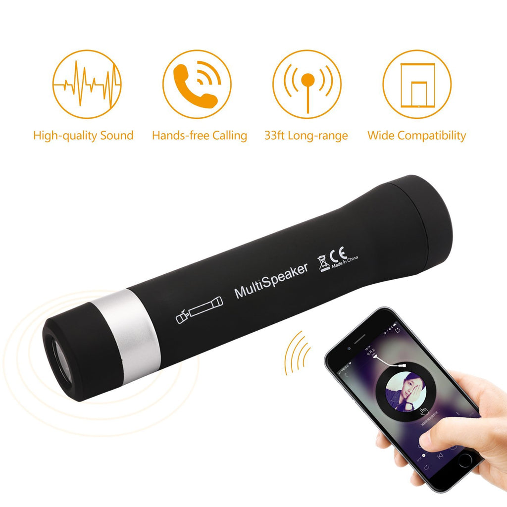 5 In 1 Multi Functional Bluetooth Bike Speaker w/ Hands Free Calling