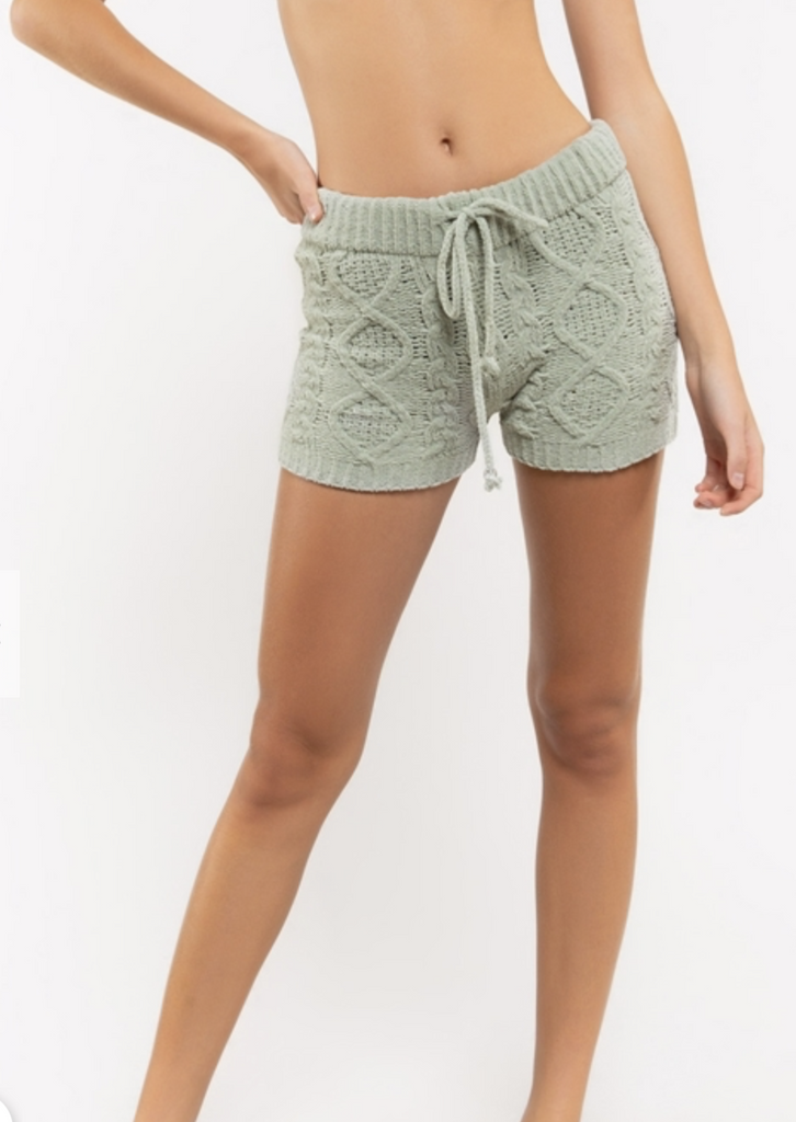 Desert Sage Fleece Knit Shorts