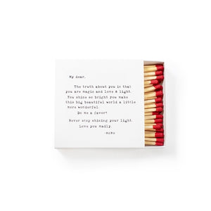 Sugarboo & Co. Sweet Sentiment Boxed Matches