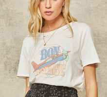 Load image into Gallery viewer, Bon Voyage Distressed Vintage Print Graphic Tee