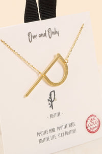 Iris Initial Letter 18K Gold Dipped Necklace