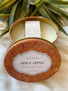 ROSY RINGS SPICY APPLE Travel Tin 2.75oz
