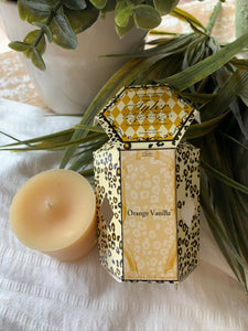 TYLER CANDLE COMPANY 'ORANGE VANILLA' Scented Boxed Votive 2oz Candle