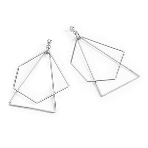 ON THE EDGE SILVER GEOMETRIC Earrings