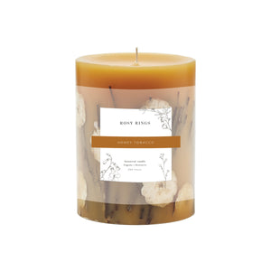 Rosy Rings Honey Tobacco Medium Round Botanical Candle (Coming Soon!)