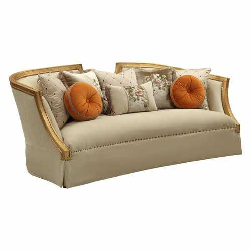 Fabric Antique Gold Upholstery Sofa