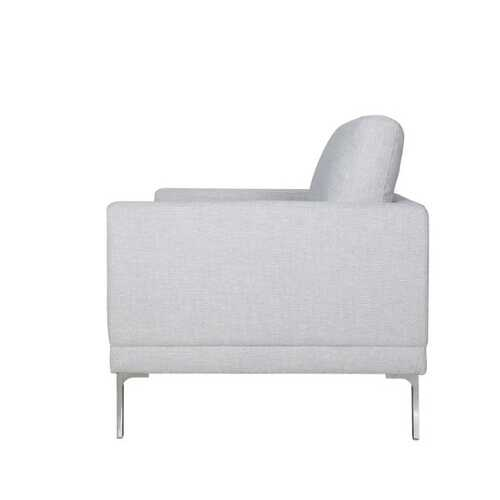 Silver Polyester Firenza Loveseat