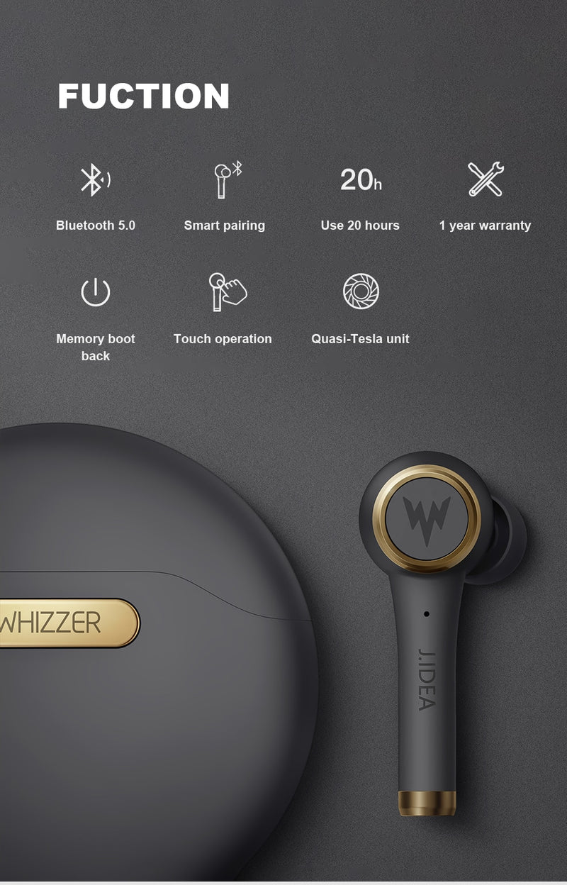 TWS 3D Stereo Sound Earphone with Mic