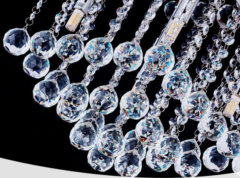 Statement Shad Crystal Chandelier