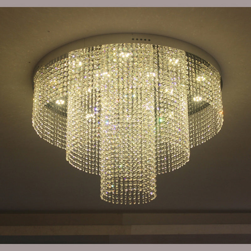 Statement Tiered Crystal Chandelier