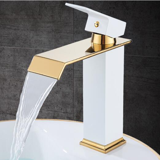 Antique Square Waterfall Bathroom Faucet