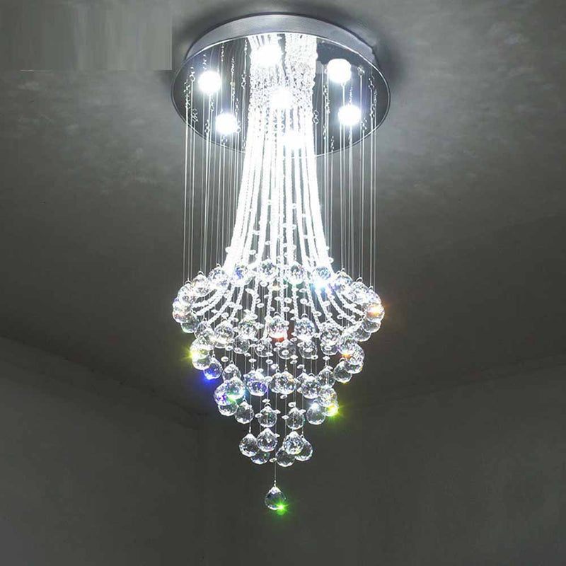 Tear Drop Statement Crystal Chandelier