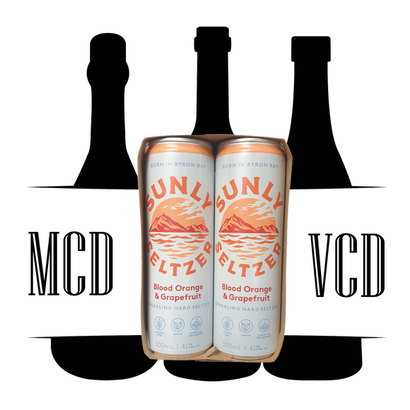 Sunly Seltzer Blood Orange & Grapefruit Cans - 4pk (4% AVB)